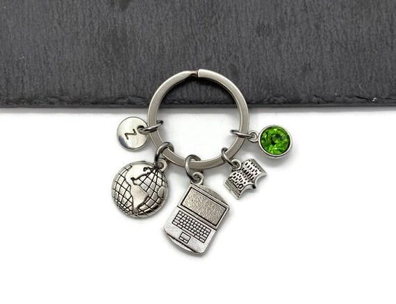 Blogger Gift Blogger Keychain Blogger Keyring Blogging