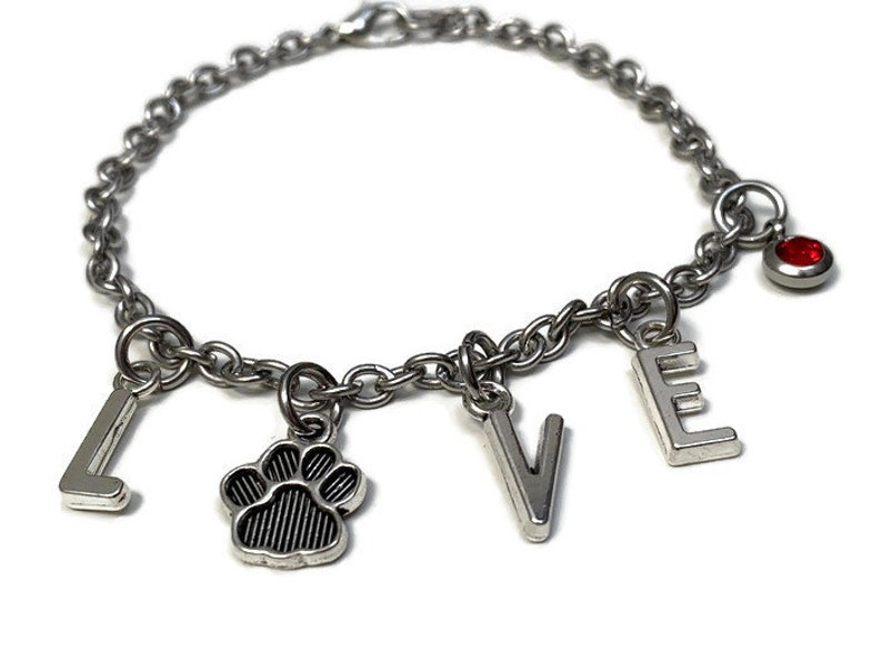 dog paw Gift lovers animal puppies Puppies Personalized Love bracelet