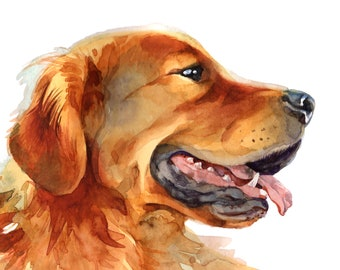 Custom Pet Portrait Watercolor Hand painted from your Own Photo Pet Portrait Painting Custom Dog or Cat Portrait Pet Memorial Dog Painting