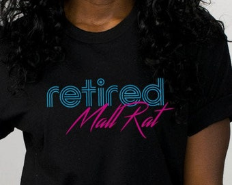 821af3a588fff2 Retired Mall Rat Next Level T-Shirt, Funny Star Mall Strange TV Series,  Upside Down Gift Tee