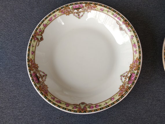 "Czechoslovakia Victoria /""FLORAL/""  ~ Set of 4 ~ Dessert Bowls ~ 5 1//2/"""