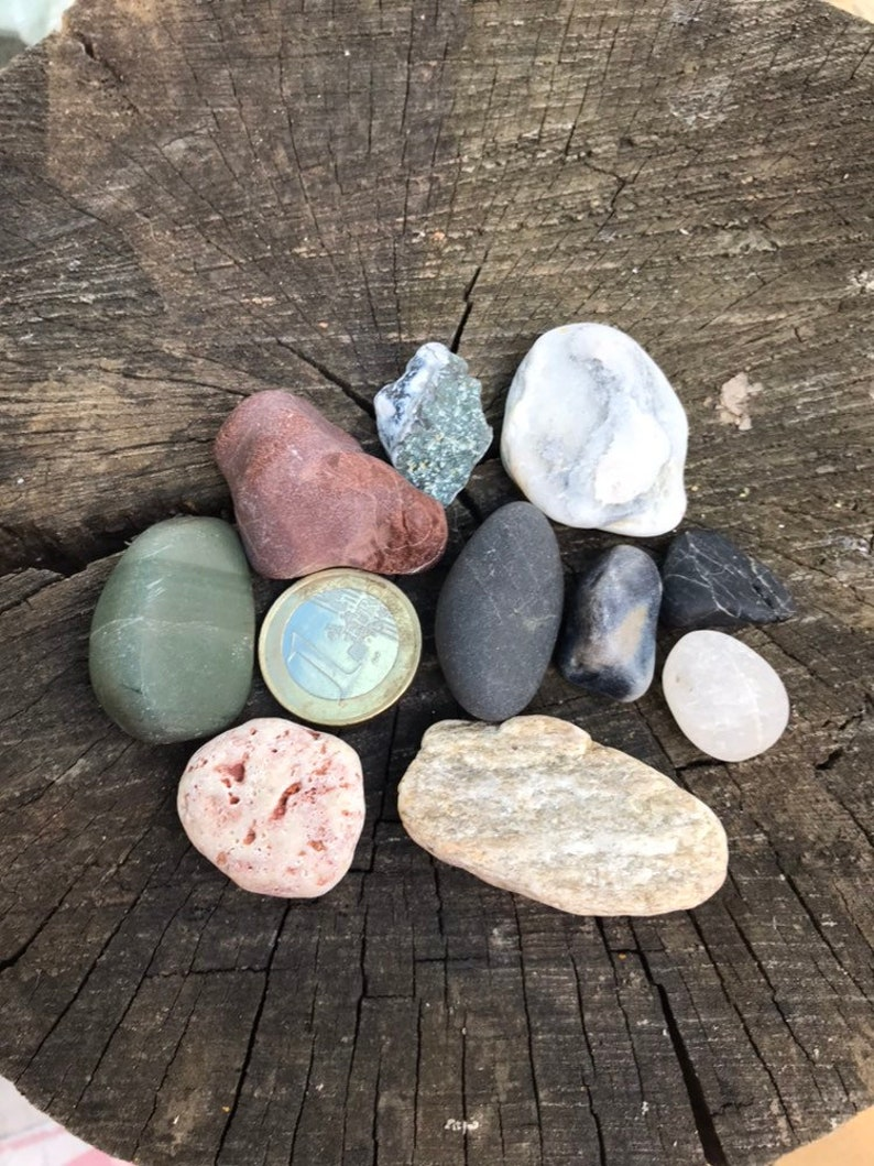 Beach Stone Odin Stone Talisman Gift For Sea Lover 10 Pieces Of Gorgeous Mixed Beach Stones Love my hag stones, but have never seen fairies. umandawa