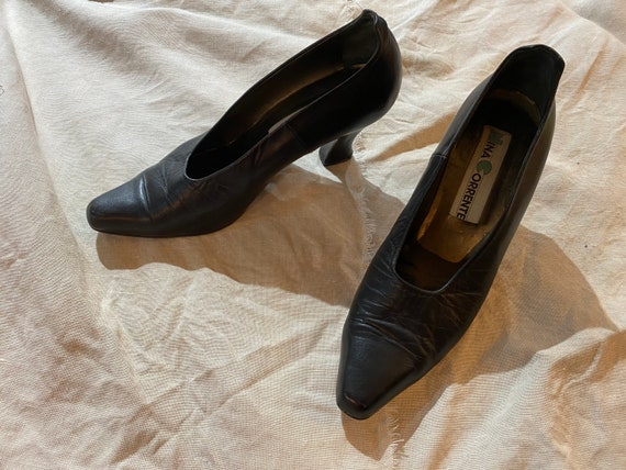 Vintage Black Witch shoes / Victorian shoes / Ital