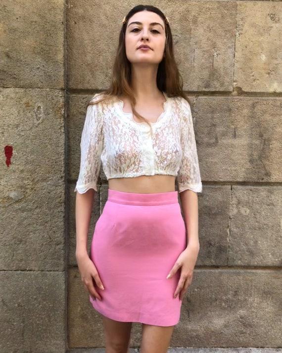 Pink Short Skirt 80s
