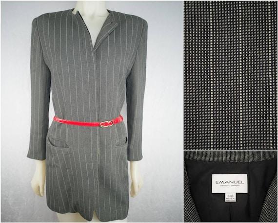 Ungaro power blazer in grey. 80s vintage oversized