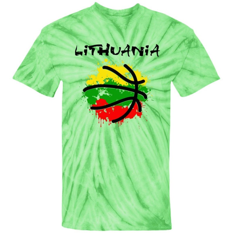 Lithuania Strong Abstract Lithuania Men /& Women Unisex Lithuanian Tie Dye T-Shirt is part of the Lithuania Strong Apparel Collection