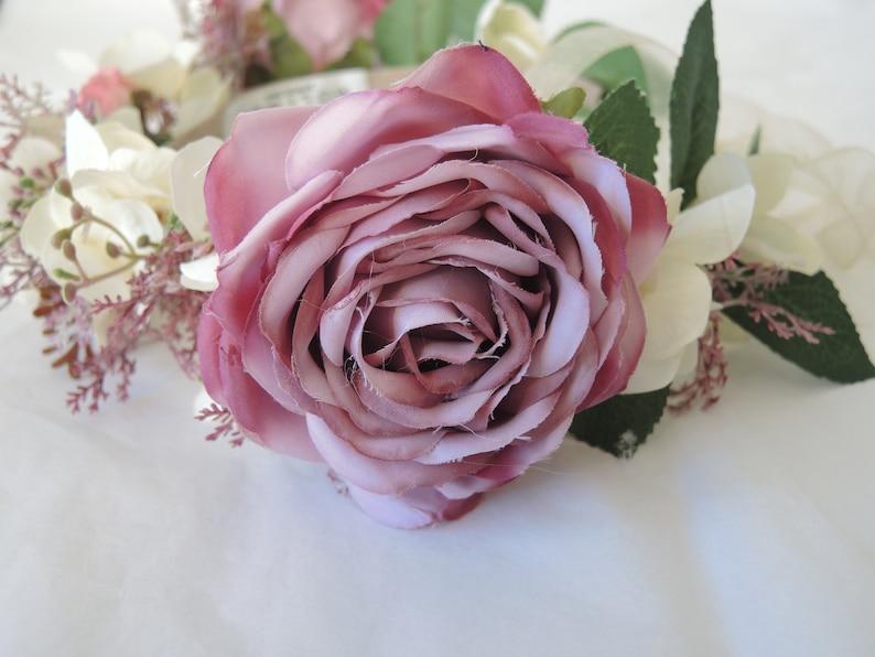 Artificial Flower crown Flower Headband Wedding crown Hydrangea crown Bridal crown Original Wedding,flower tiara Artificial Rose crown