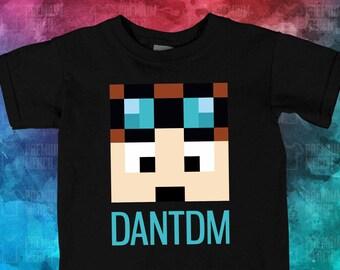 8018ee3f Kids T-Shirt, Dan TDM Logo Kids Tee, Dan TDM Youtube Merch, Childrens  Minecraft Youtuber Shirt, Gift Boys Girls