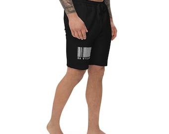 T.R.I.B.E. L.I.F.E. TIN Da Villain Bar code Men's fleece shorts