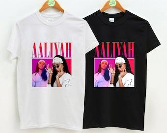84c161bbdb0 AALIYAH Shirt Vintage 90s Inspired