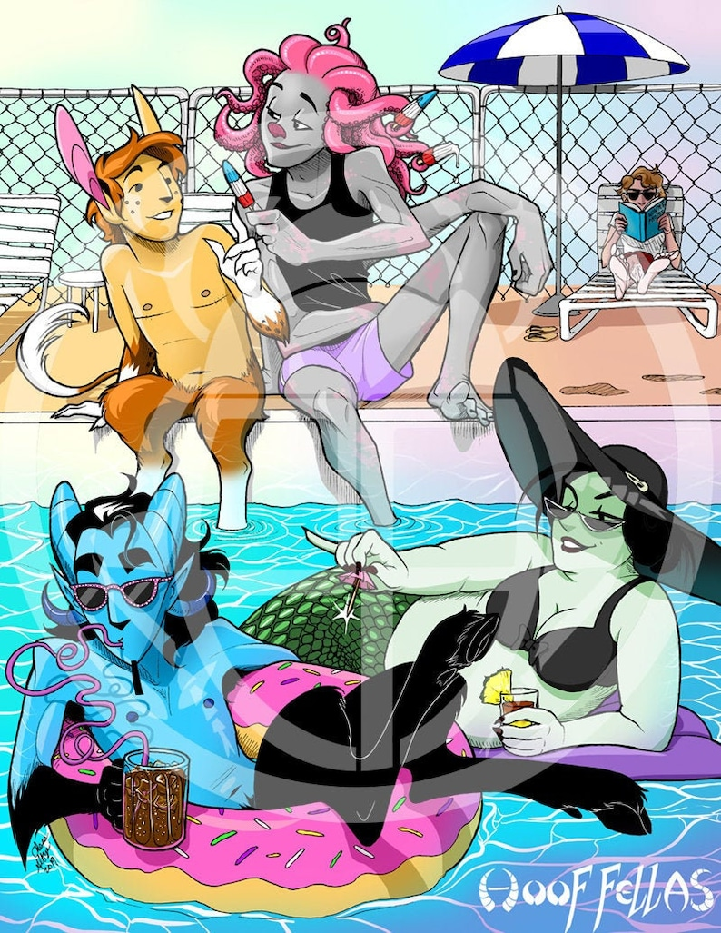 Hoof Fellas Pool Party poster image 0