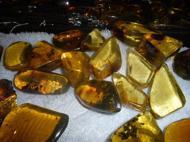 Natural Mexican amber Chiapas amber Wire wrap Amber piece