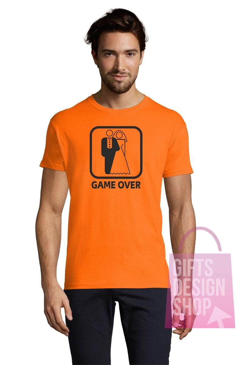 gifts for him t-shirts for man groom squad t-shirts bachelor party Game over t-shirt groom party groom squad tees