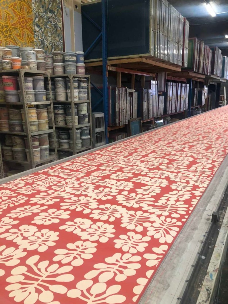 Rocks Ikuntji Artists sewing Hand printed Fabric Length 1 m Keturah Zimran Aboriginal Art Tencel Linen Australia patchwork