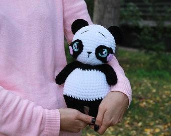 Boo the Panda amigurumi pattern by Hello Yellow Yarn | Tricot et ... | 270x340