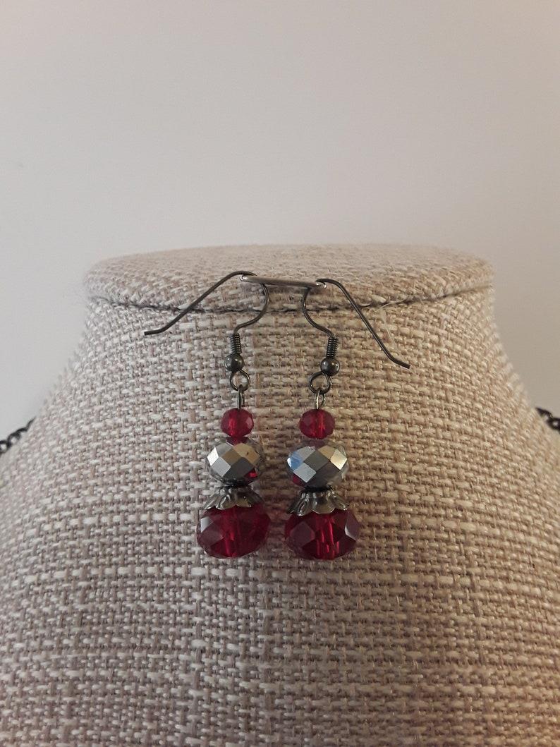 Red necklace set stone jewerly stone necklace set,gift for women,waring set, jewerlry set,necklace,set,gift,glass beads necklace,necklace