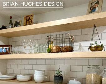 Maple Floating Shelf, Custom Floating Shelves, Open Shelves