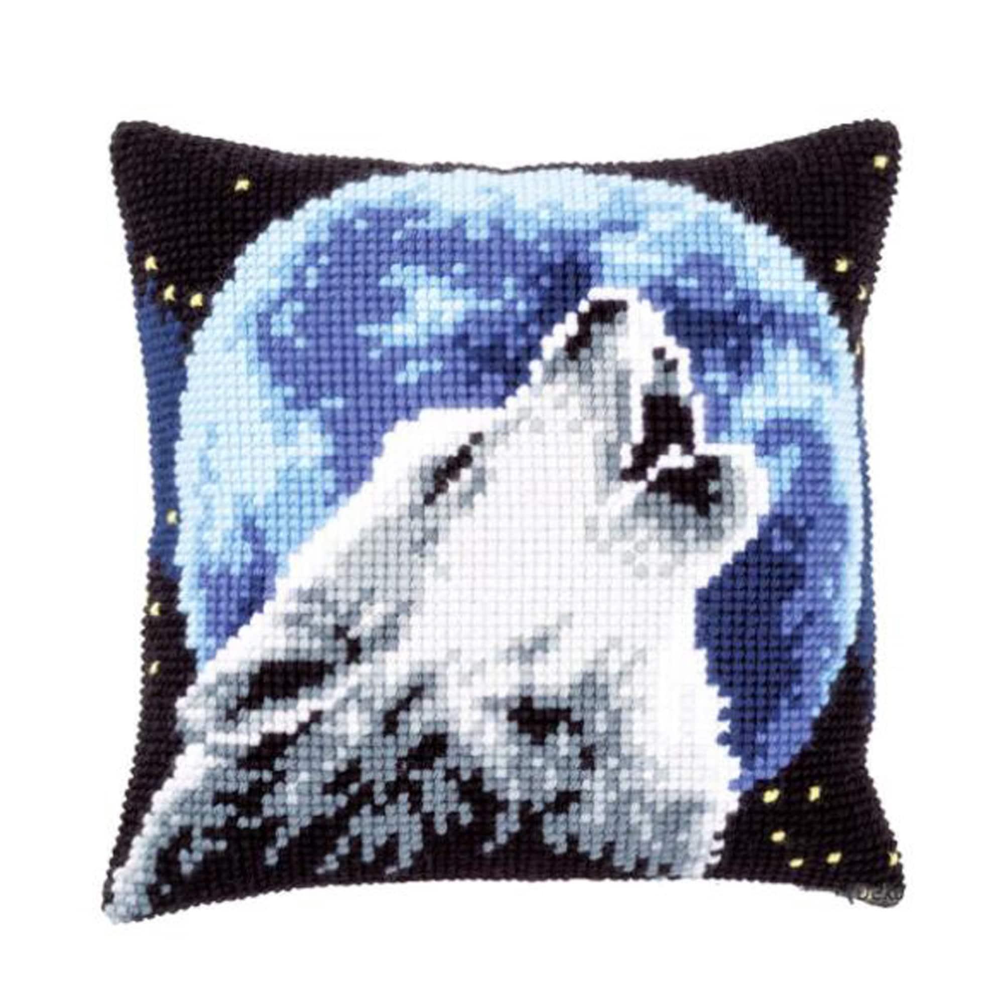 animal Latch hook pillow DIY cross stitch kit size 40cm*40cm 5D embroidery pattern woolen mesh Alpaca pillow