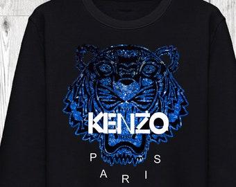 58174f46ae0 Sweatshirt Unisexe Kenzo Tigre Tiger Galaxy Galaxie Homme Femme Men Women  Gris Chiné S M L XL XXL Mode Fashion Luxe Sweat