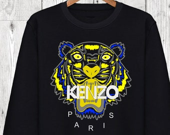 f94dbb0236c Sweatshirt Unisexe Kenzo Tigre Tiger Homme Femme Men Women Gris Chiné S M L  XL XXL Mode Fashion Luxe Sweat