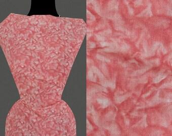 50cm STOFF Baumwolle 9,40 €//m korallenfarben abstraktes Blumenmuster