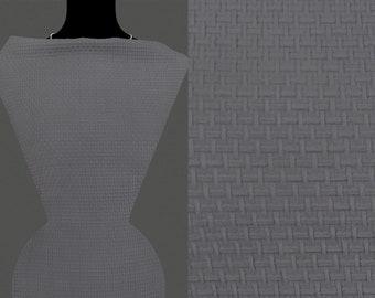 7,20 €//m 50cm STRICKSTOFF JERSEY geometrische Muster dunkelblau