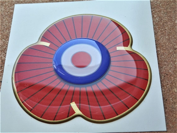 Animals at War Remembrance Sunday Purple Poppy and Wreath Car Sticker Large