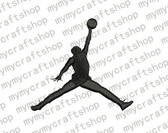 5b9c41907b76 Jordan Jumpman Logo Machine Embroidery Design 6 Sizes - INSTANT DOWNLOAD