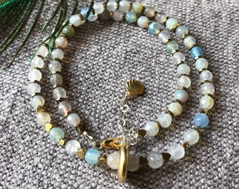 2c19190ee0ac Necklace made of stones. Gold necklace. Necklace silver. Necklace for every  day. Gemstone.