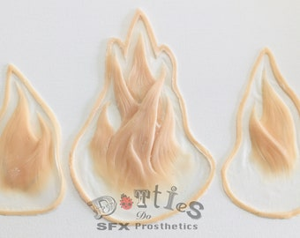 3 pieces unpainted wired Silicone Prosthetic Flames