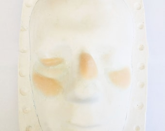 4 pieces unpainted Silicone Prosthetic face swellings, black eye, broken nose