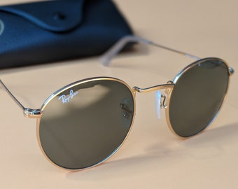 b435ffd143b34 Ray-Ban Round Metal Gold Unisex Sunglasses