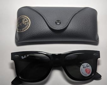 bde23d672 Ray-Ban Polarized Classic Wayfarer Black / Unisex sunglasses / Rb2140 901  50mm
