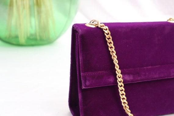 Purple vintage velvet bag