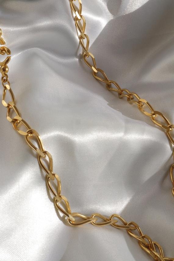 Vintage goldton goldtone goldtone metal chain neck