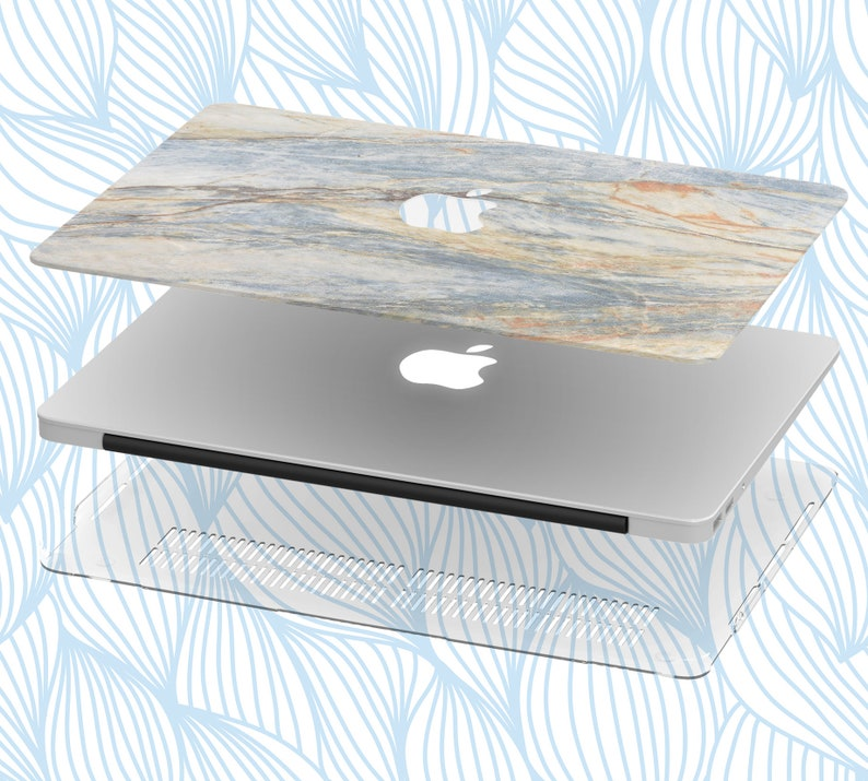 Hard macbook case with stone marble texture gray marble pattern for macbook air pro retina marble macbook case 500