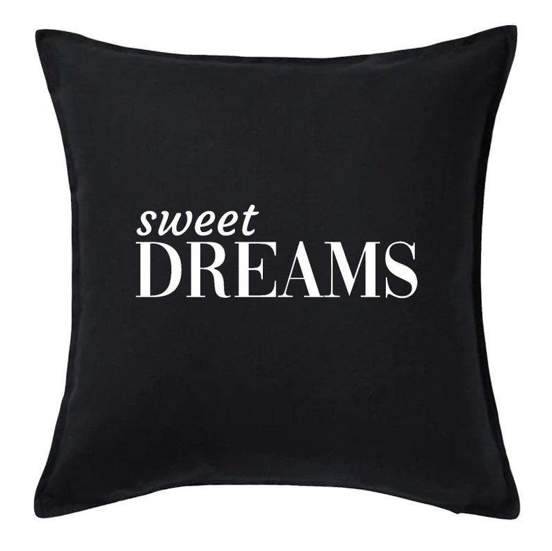 Beautiful Handcrafted Sweet Dreams Typography Cushion/Pillow image 0