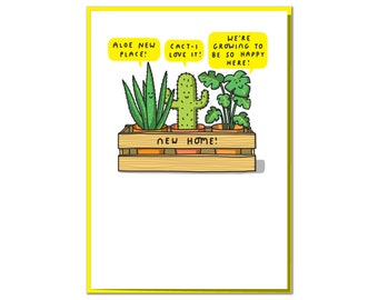 We're Growing to Be So Happy Here! Funny Cute New Home Card