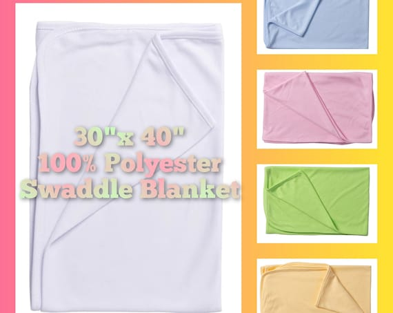 Sublimation Baby Blanket (30x40 inches 100% Polyester) Multiple Colors!