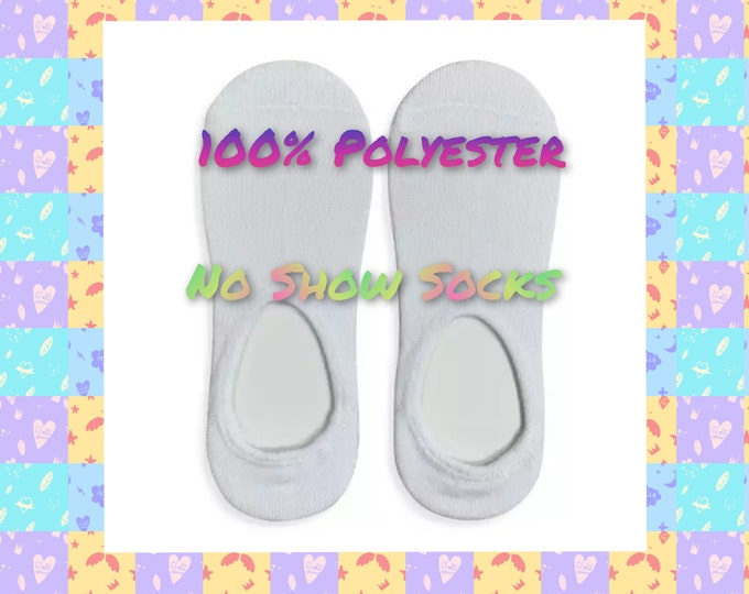 No Show Styled Socks (100 % Polyester) Pack of 5 Pair w/ Cardboard Insert