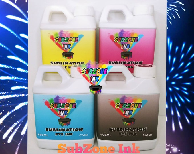 SubZone Ink 4 Color Ink for Epson Printers (500ml bottles)