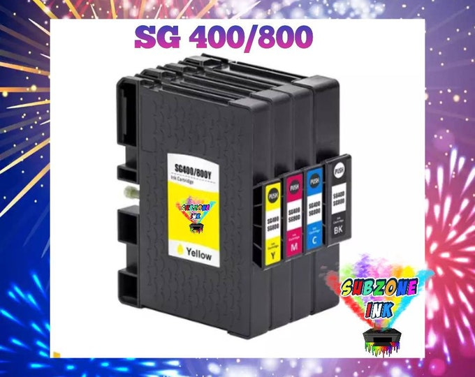 SubZone Ink Sawgrass 400/800 Compatible Cartridge Set (CMYK) Non-OEM