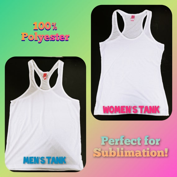 Sublimation Tank Top (100% Polyester) Men's and Women's Sizes