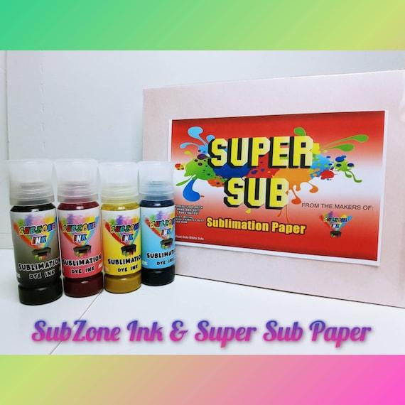 Eco Tank Sublimation Starter Kit (SubZone Ink + Super Sub Paper)