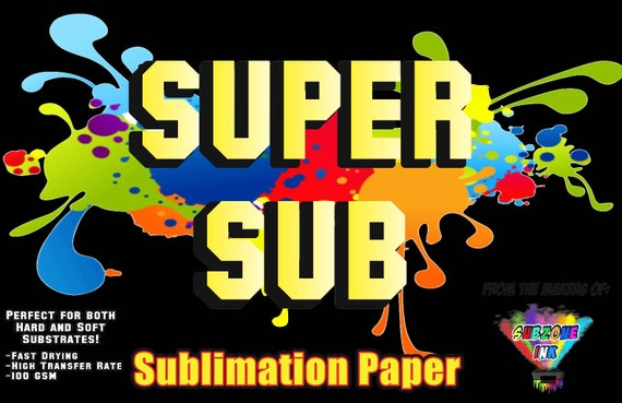 Super Sub Sublimation Paper (50 Sheet Pack) A4 Sizes(8.3×11.6 inches)