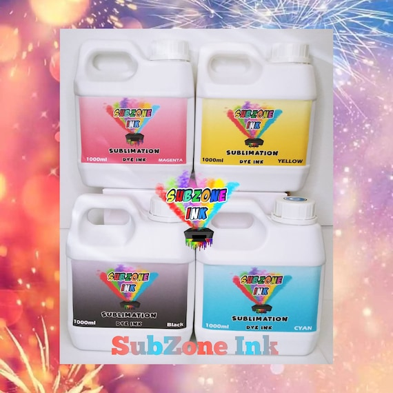 SubZone Ink 4 Color CMYK for Epson Printers (1000ml bottles)