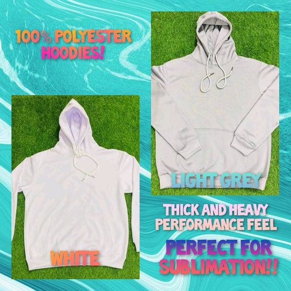 Sublimation Hoodies/Pullover 100% Polyester Adult Uni-Sex (Double Layered, Thick, Heavy Performance Feel!)
