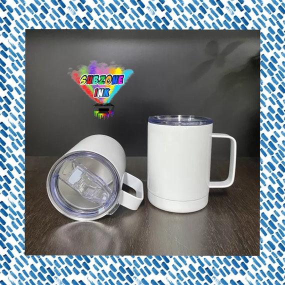 12oz Sublimation Coffee Tumbler/Camp Mug with Handle (Insulated)