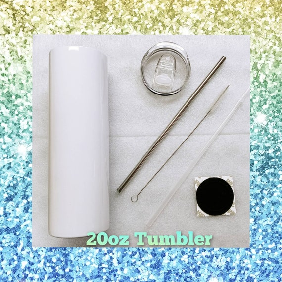 20 oz. Straight Sublimation Tumbler w/ Reusable Straw (Non-Tapered)