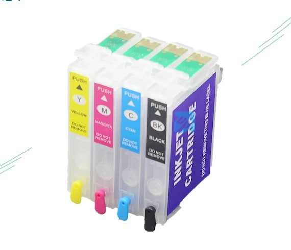 127 Refillable Cartridges w/ Auto Reset Chip for Epson Workforce and Stylus Printers